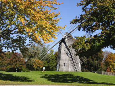 Old Hook Windmill, East Hampton, the Hamptons, Long Island, New York State, USA Stretched Canvas Print