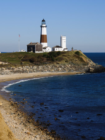 Montauk Point Lighthouse, Montauk, Long Island, New York State, USA Stretched Canvas Print