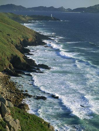 Ria De Vigo, Cape Home and the Islas Cies, of the Rias Bajas, the Lower Estuaries, Galicia, Spain Stretched Canvas Print