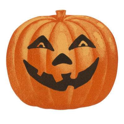 Halloween, Big Jack O'Lantern Stretched Canvas Print