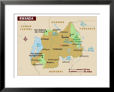 physical map of rwanda. 2010 RWANDA POLITICAL MAP map
