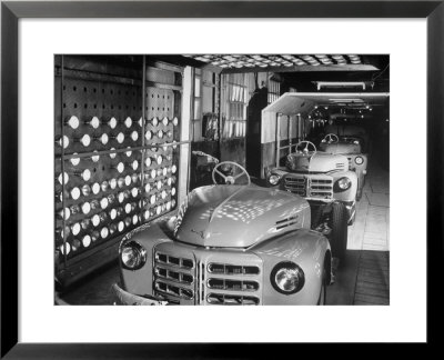 Japanese Cars on Assembly Line at Toyota Motors Plant Pre-made Frame by Margaret Bourke-White