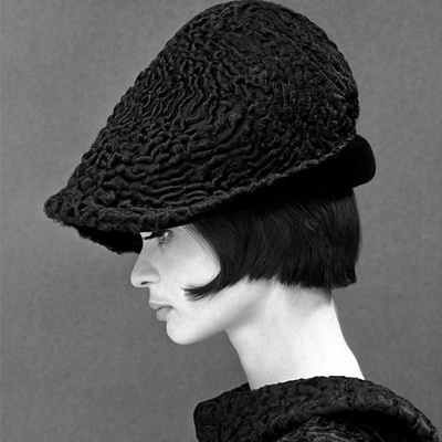 Marie Lise Gres in a Persian Lamb Hat, Summer 1964 Stretched Canvas Print