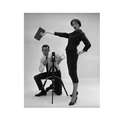 John French and and Daphne Abrams in a Tailored Suit, 1957 Stretched Canvas Print