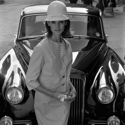 model and car  1960s giclee