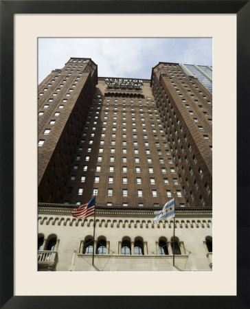allerton crowne plaza hotel  chicago  illinois  usa framed print
