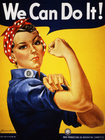 We Can Do It! (Rosie the Riveter) military poster by J. Howard Miller