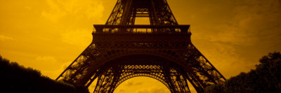 View of a Tower, Eiffel Tower, Champ De Mars, Paris, Ile-De-France, France Stretched Canvas Print