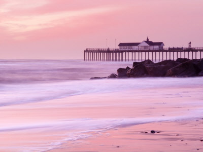 Southwold Pier at Dawn, Suffolk, UK Stretched Canvas Print