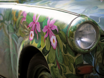 Trabant Car, Berlin, Germany Stretched Canvas Print