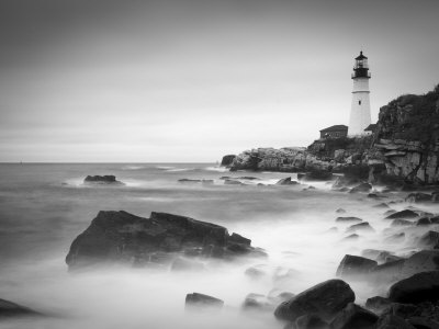 Maine, Portland, Portland Head Lighthouse, USA Stretched Canvas Print