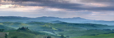 Belvedere at Dawn, Valle De Orcia, Tuscany, Italy Stretched Canvas Print