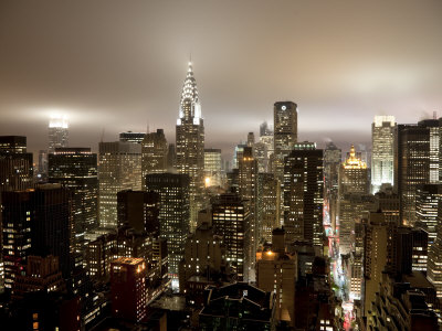 Chrysler Building and Midtown Manhattan Skyline, New York City, USA Stretched Canvas Print