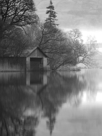 Boathouse, Cumbria, England, UK Stretched Canvas Print
