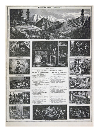 gold rush 1849 images. Gold Rush of 1849 Giclee