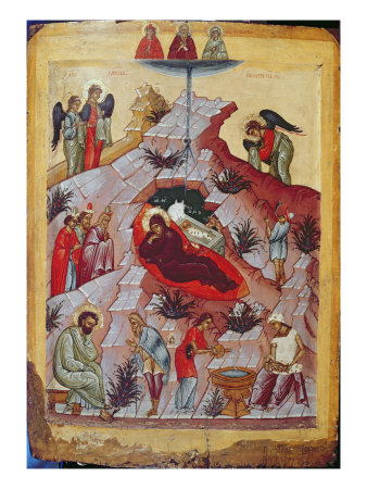 the nativity  russian icon  16th century giclee print  zoom  view in room