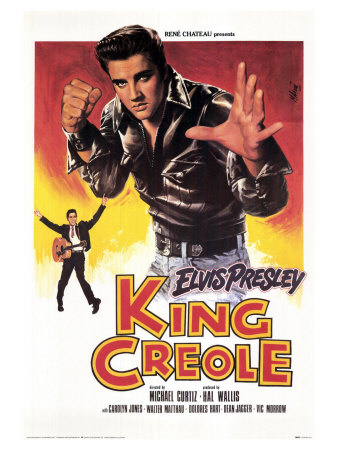 King Creole, French Movie Poster, 1958 Stretched Canvas Print