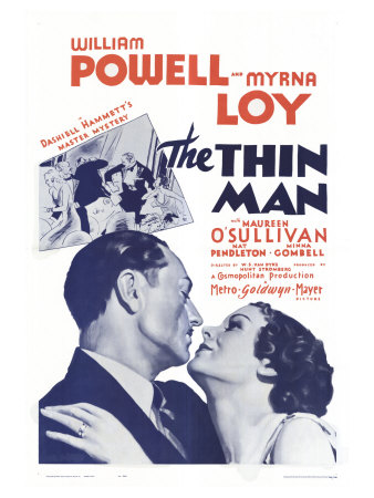 The Thin Man, 1934 Stretched Canvas Print