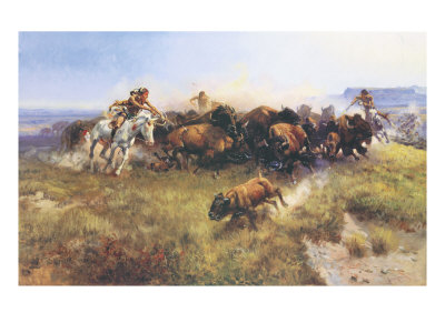 charles-marion-russell-the-buffalo-hunt-