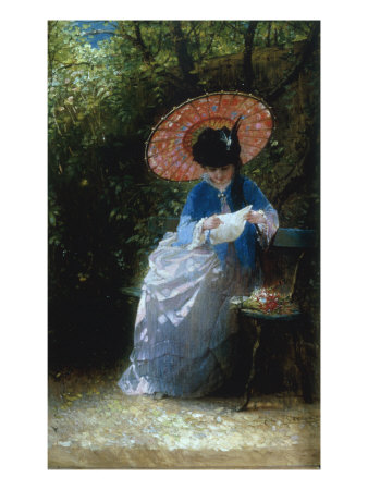 &quot;Young Girl Reading, 1873&quot; Giclee Print