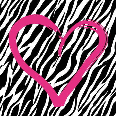Zebra Love Print zoom view in room