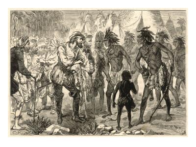 Premier contact d'Alonso de Ojeda avec les Indiens