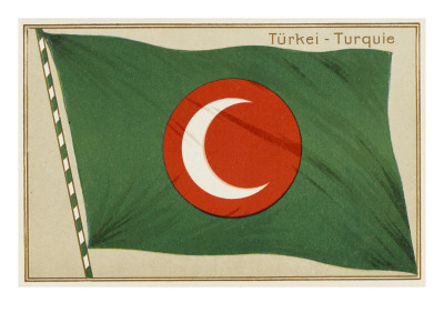 Ottoman Empire Flag Giclee Print. zoom. view in room