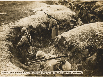 trenches in world war 1. (Marne) During World War I