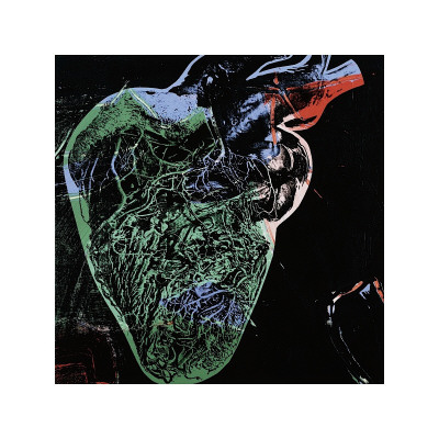 human heart art. Human Heart, c.1979 (Green)