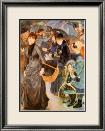 Umbrellas Pre-made Frame by Pierre-Auguste Renoir at