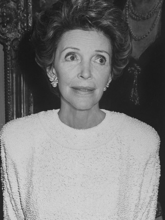 First Lady Nancy Reagan at Benefit for Ballet at Metropolitan Opera House Stretched Canvas Print
