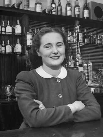 Irish Barmaid at Airport Bar Stretched Canvas Print