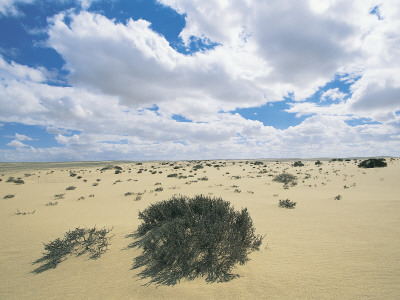 Clouds over an Arid Landscape, Qattara Depression, Libyan Desert ...