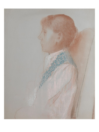 Portrait De Madame Odilon Redon, De Profil À Gauche artwork by Odilon Redon