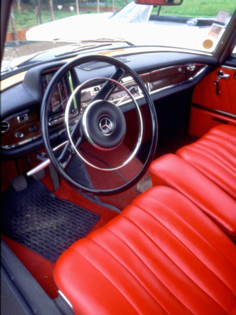 Interior of a Simca Présidence, 1958 Model Stretched Canvas Print