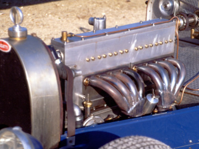 1500 Cm3 Engine with the Compresseur of a Bugatti Type 35, 1928 Model Stretched Canvas Print