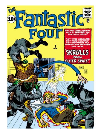 Fantastic Four N° 600 Marvel-comics-retro-fantastic-four-family-comic-book-cover-2-fighting-skrulls