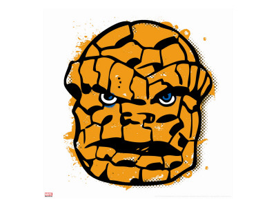 Marvel Comics Retro: Thing Stretched Canvas Print