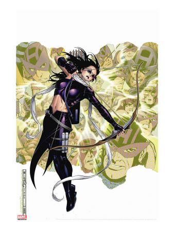 Young Avengers Presents No.6 Cover: Hawkeye Stretched Canvas Print