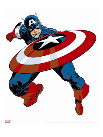 Captain America V4, No.27 Cover: Captain America Stretched Canvas Print