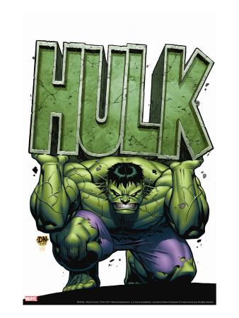 Marvel Adventures Hulk No.4 Cover: Hulk Stretched Canvas Print