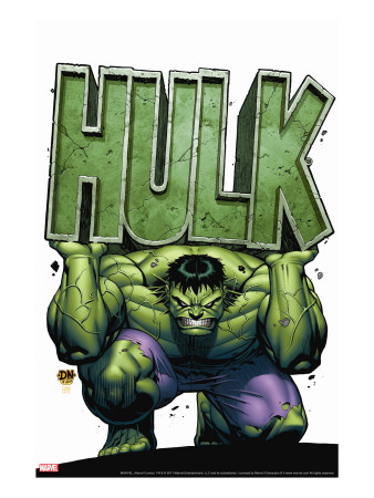 Marvel Adventures Hulk No.4 Cover: Hulk Stretched Canvas Print