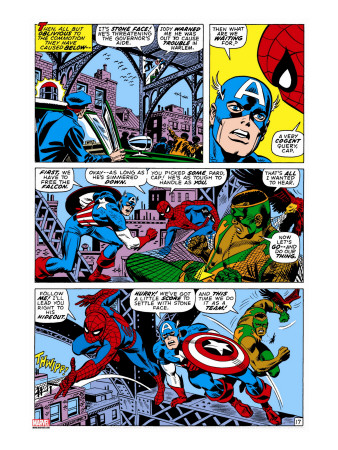 Captain America And The Falcon Group: Captain America, Falcon and Spider-Man Stretched Canvas Print