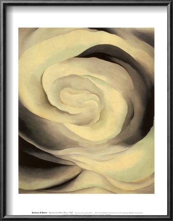 Abstraction White Rose, 1927 Lamina Framed Art Print