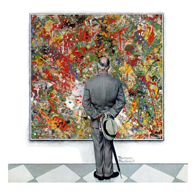 """Art Connoisseur"", January 13,1962 Stretched Canvas Print"