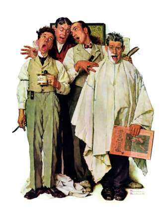 """Barbershop Quartet"", September 26,1936 Stretched Canvas Print"
