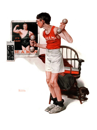 """Champ or Be a Man"", April 29,1922 Stretched Canvas Print"