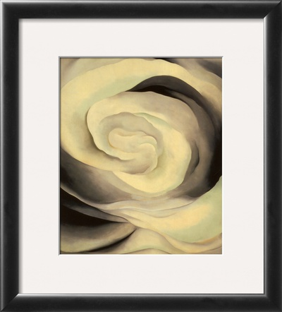 Abstraction White Rose, 1927 Framed Print. zoom. view in room