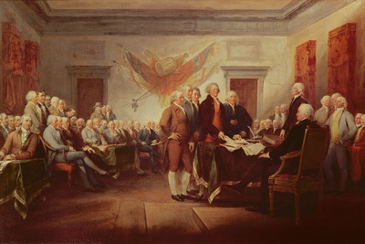 declaration of independence signing. Signing the Declaration of