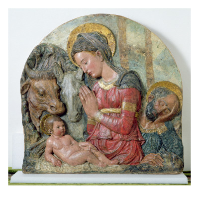 The Nativity c. 1460 affiche par Donatello